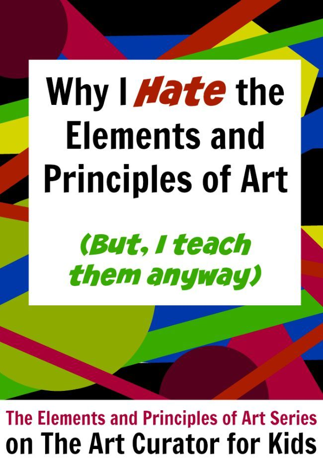What Are The Elements Of Arts Define Each : Art the curator for kids why i hate elements