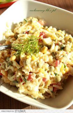 Sałatka ryżowa z selerem konserwowym