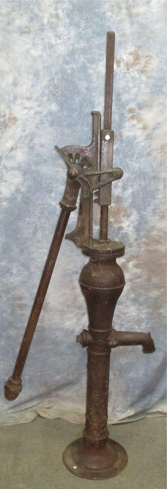 Well Water Pump Cast Iron Cistern Pitcher Windmill Garden Farm $399.00