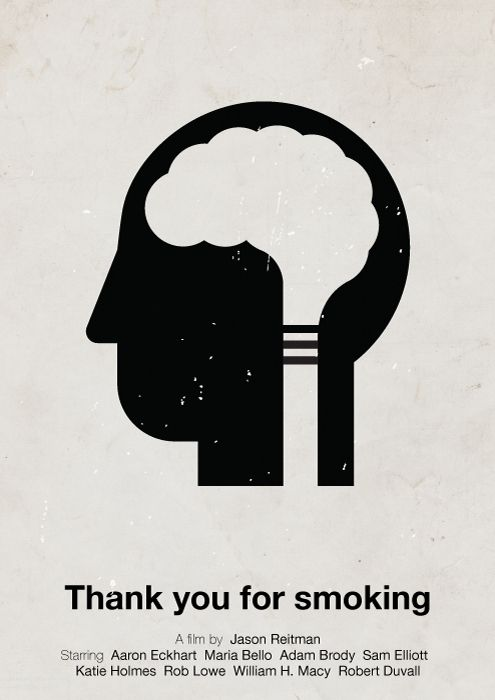 """""""Thank you for smoking"""" Pictogram  - #movie #poster"""