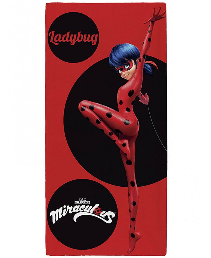 This Miraculous Ladybug Towel is ideal for use at the beach, the pool or at home and features teenage crime fighter Ladybug. Free UK delivery available