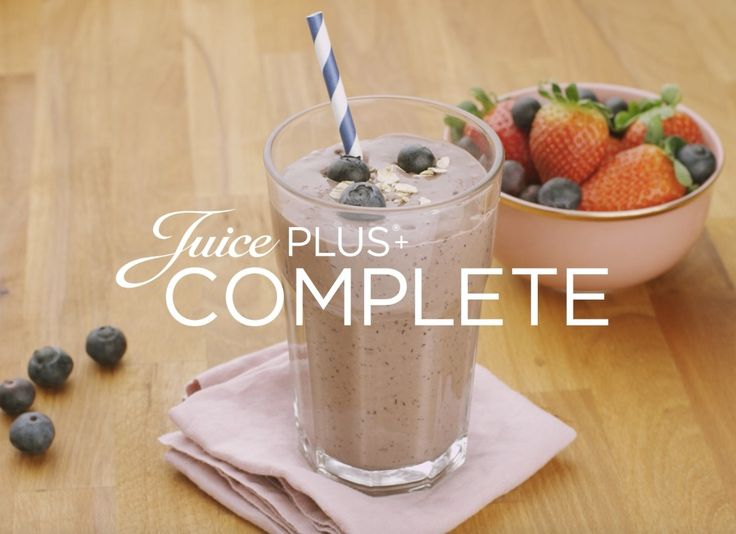 Juice PLUS+ blauwe bessen en haver smoothie