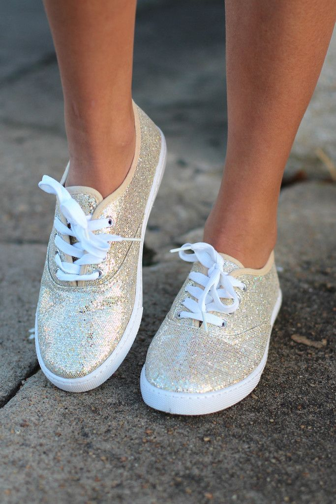 Favorite Sneakers {Gold Glitter} | Boutique Shoes – The Fair Lady Boutique