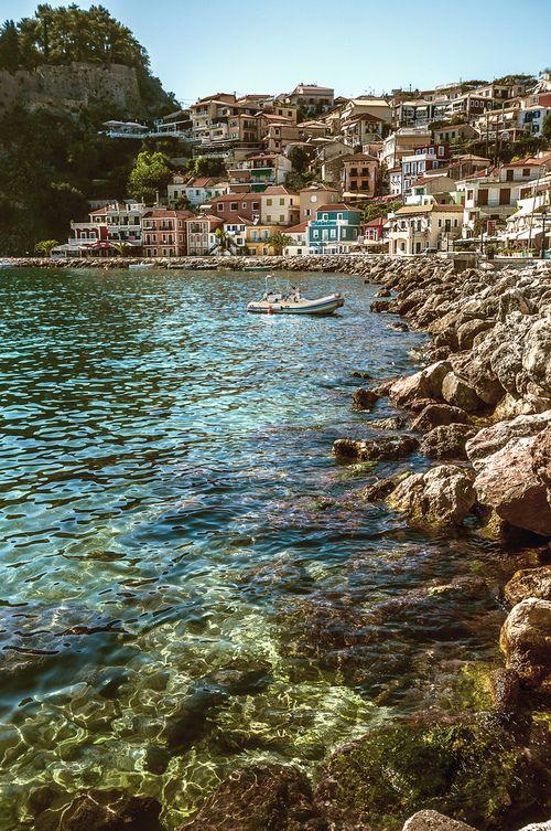 Parga, Greece #travel #greece #sea #parga
