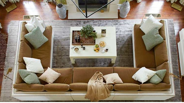 U shape sectional family room couches pinterest for Living room ideas with 3 sofas