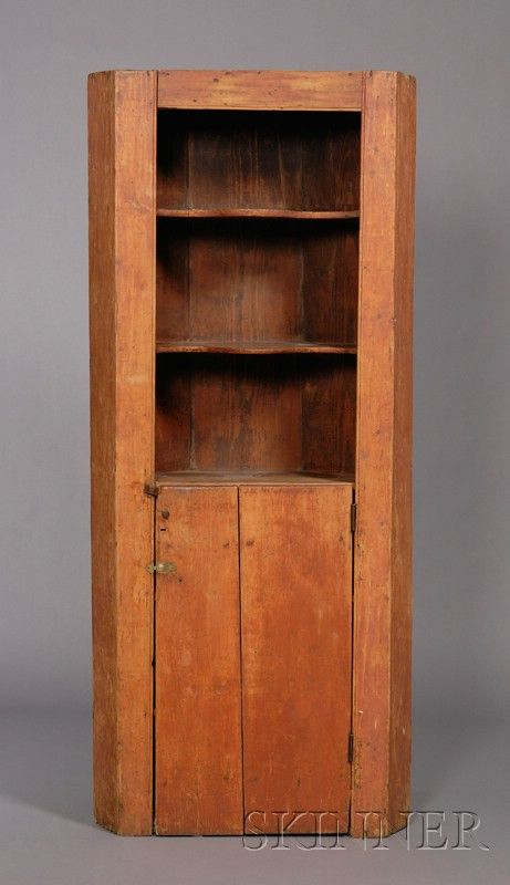 corner cupboard in red. Primitive CabinetsWooden CabinetsPrimitive  FurniturePrimitive AntiquesPrimitive ... - 1288 Best Primitive Cupboards Images On Pinterest Country