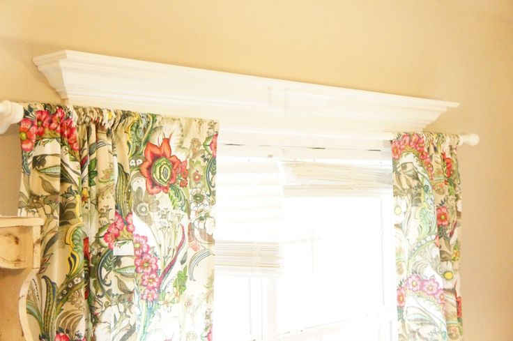 How to hang curtain rods on windows with decorative molding - Chaotically Creative