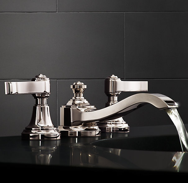 42 best images about robinetterie on pinterest chrome finish wall mount and kitchen taps for Restoration hardware bathroom faucets