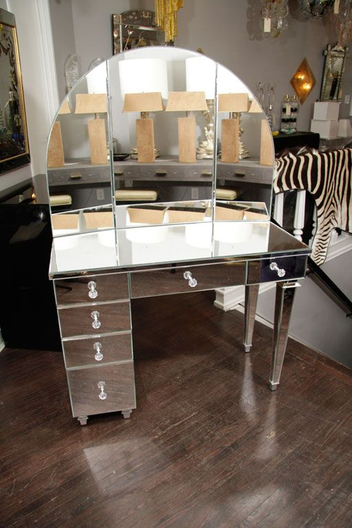 Art Deco Style Mirrored Dressing Table
