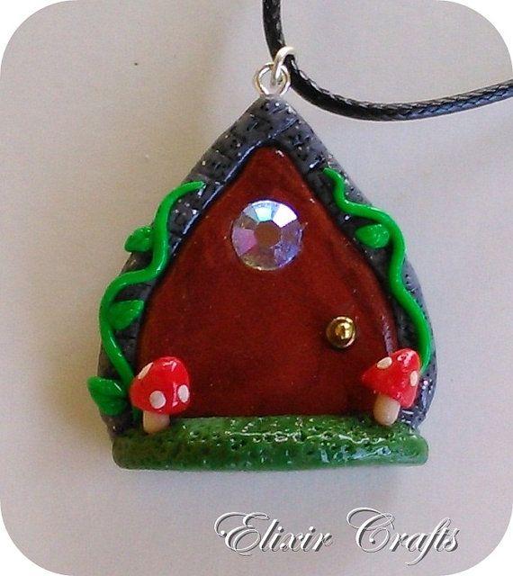 Fairy miniature door necklace