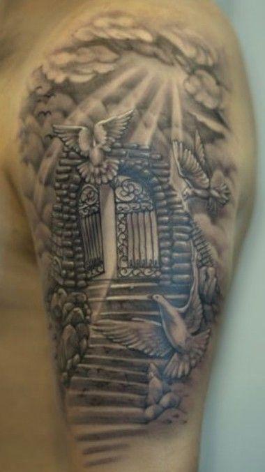 wandtrockner tattoos himmel ehemann tattoo wolke totenkopf tattoos ...