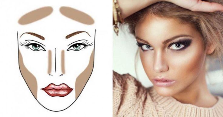 Η τέχνη του μακιγιάζ είναι προσιτή σε όλους, και μπορούμε να το κάνουμε πραγματικά εντυπωσιακό, και είναι πιο εύκολο από όσο νομίζετε. Συγκεντρώσαμε μερικά αποτελεσματικά κόλπα που θα σας κάνουν ειδικούς. Ρίξτε τους μια ματιά: 1. Περίγραμμα προσώπου Το τέλειο μακιγιάζ ξεκινάει με την τέλεια βάση. Ίσως έχετε ξανακούσει πόσο αποτελεσματικό είναι το περίγραμμα, που