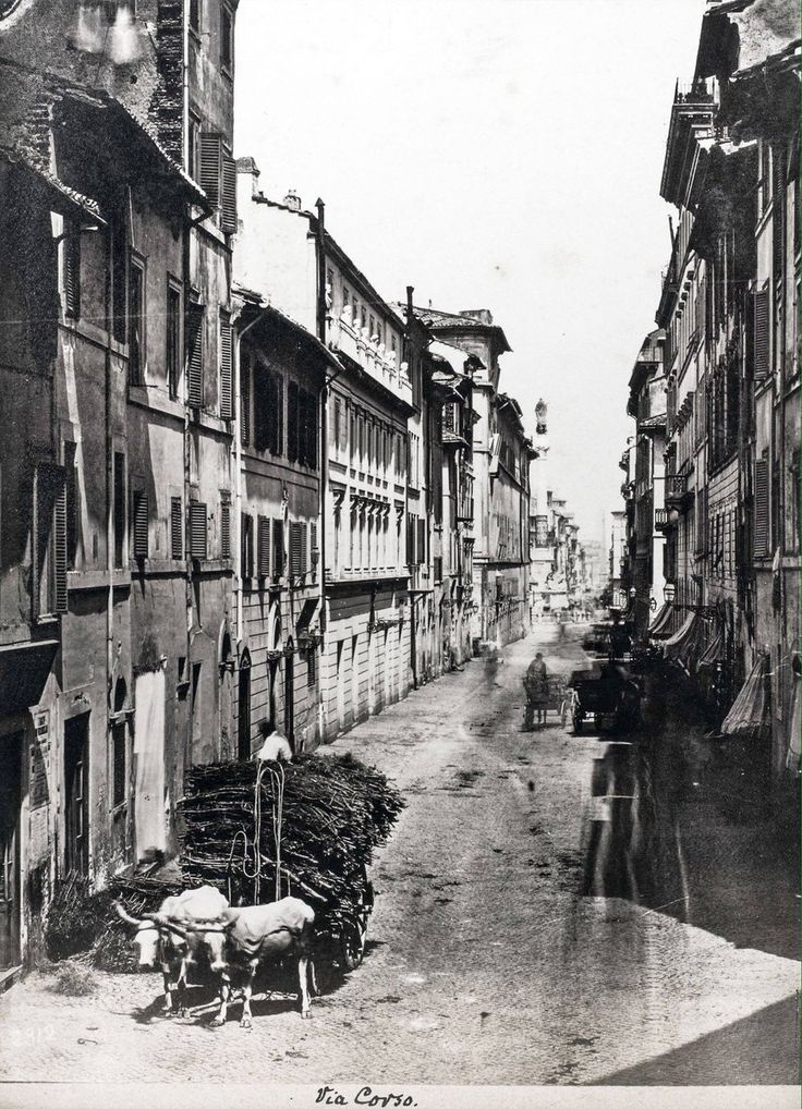 Via dei Due Macelli (1870-1880)