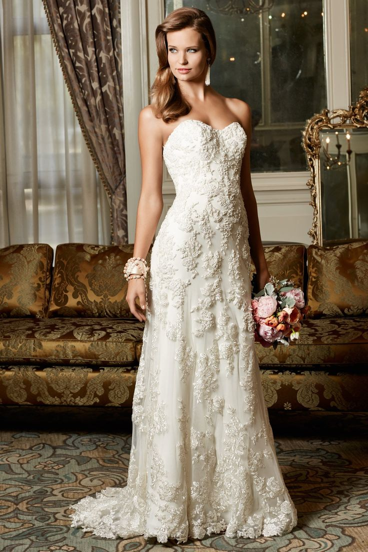 Cool RK Bridal Wtoo Bridal Fall Style Helena Beautifully beaded sheath gown with sweetheart neckline Features metallic lace motif embellishments