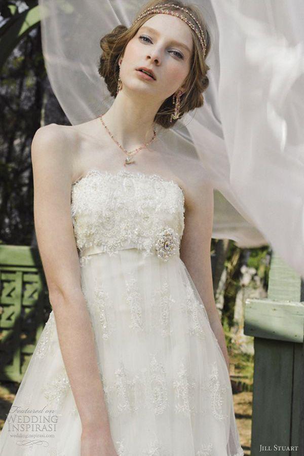 jill stuart wedding dresses 2012 strapless empire bridal gown