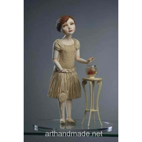 "Ball-jointed doll ""Goldie"", BJD. Author Juliet Pelukh - http://arthandmade.net/peluh.uliya  Doll, ball-jointed doll, BJD, collectible doll, handmade doll, gift, originalgift, craft, handmade, collection, Gallery Magical World, кукла, купить куклу, шарнирная кукла, коллекционная кукла, кукла ручной работы, подарок, оригинальный подарок, ручная работа, коллекция, Галерея Волшебный мир"