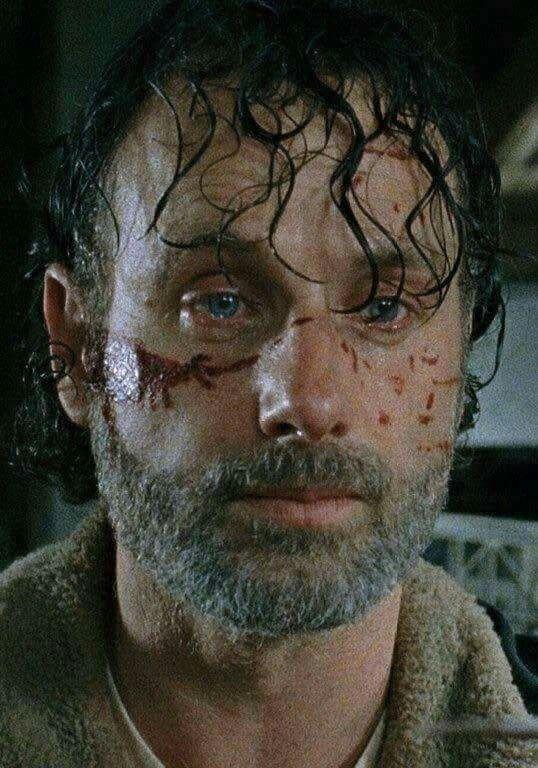 Rick Grimes feeling shocked, hopeless & terrified. (Walking Dead Season 7)