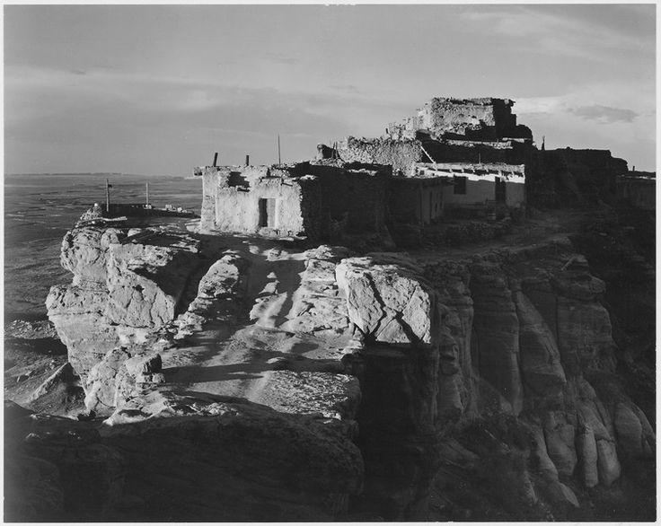 """""""Walpi, Arizona, 1941."""", Ansel Adams, public domain via Wikimedia Commons."""