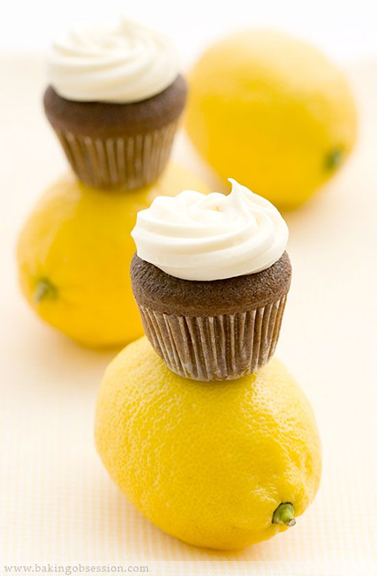 Devil's Mini-Cupcakes with Lemon Cream Cheese Frosting ...