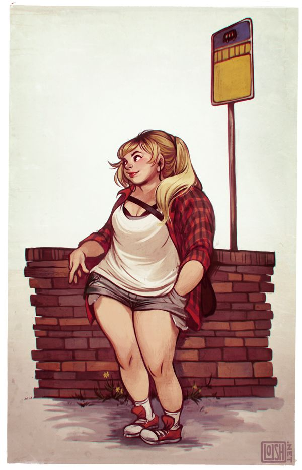 """bus stop"", girl / ""fermata dell'autobus"", ragazza - Illust: `loish on deviantART"