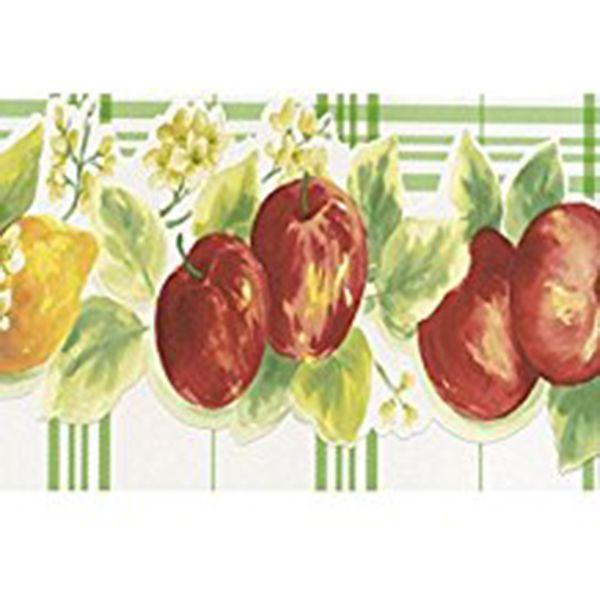 Norwall Wallcoverings Kc78352dc Fresh Kitchens 5 Lemon Apple Wallpaper Border Red Yellow Green The Savvy Decorator Norwall Fresh Kitchen Apple Wallpaper