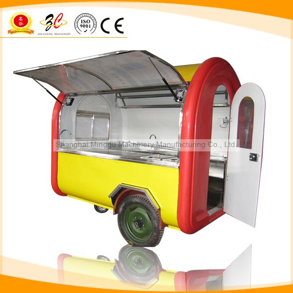 Mobile Food Cart For Sales,Food Van/Street Food Vending Cart For Sales,Hot Dog Cart/Mobile Food Trailer With Big Wheels US $2,500.00