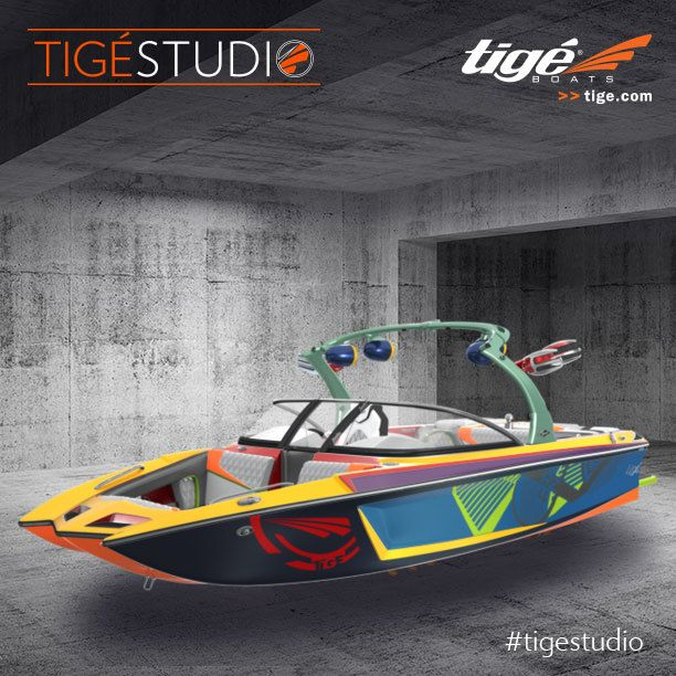 I designed my Tige at tige.com.   Handcrafted to my specifications, Tige Boats innovation, and my style -- with performance and versatility for any watersport.