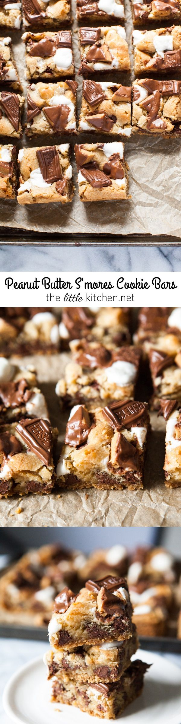 Peanut Butter S'mores Cookie Bars from thelittlekitchen.net