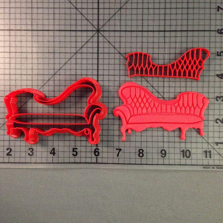Victorian Couch 102 Cookie Cutter & Stamp JBCookieCutters.com