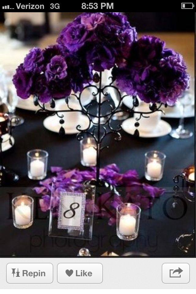 Flowers arranged with floral foam, and stuck onto tall candle holder, instead of candles. Love this idea! Now I know what to do with the few tall candle holders I kept from my wedding!
