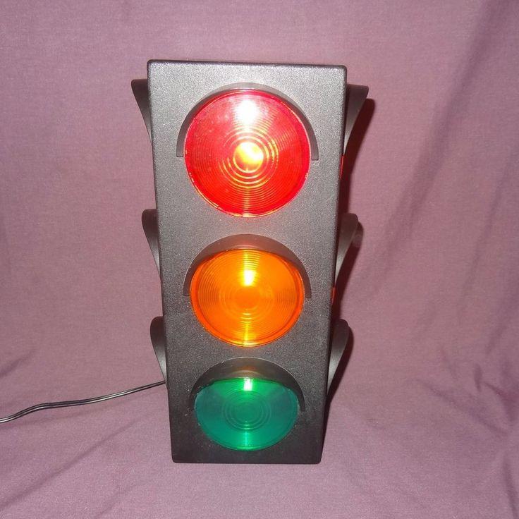 """Traffic Light Lamp Decor Kid Desk Top Party Bedroom Dorm Office 12"""" #TrafficLight"""