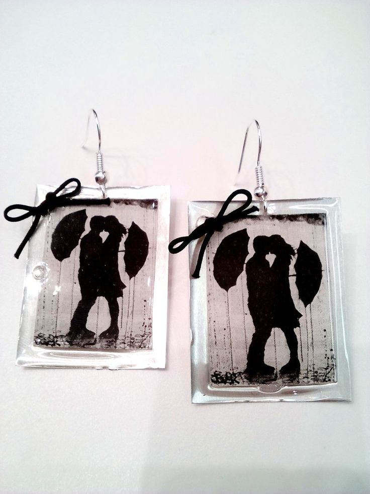 Χειροποίητα σκουλαρίκια ζευγάρι  στη βροχή