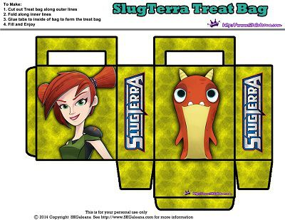 Treat Bag with Trixie and Tormato | Free Slugterra Party Printables, and Crafts | SKGaleana