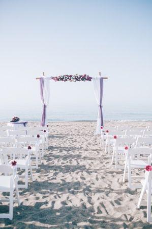 Beach wedding in Crete ceremony set up by Moments www.weddingincrete.com
