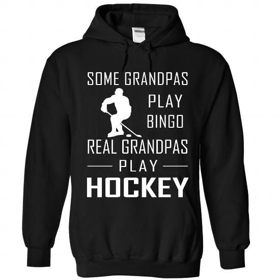 Awesome Hockey Lovers Tee Shirts Gift for you or your family member and your friend:  Hockey GRANDPA Tee Shirts T-Shirts