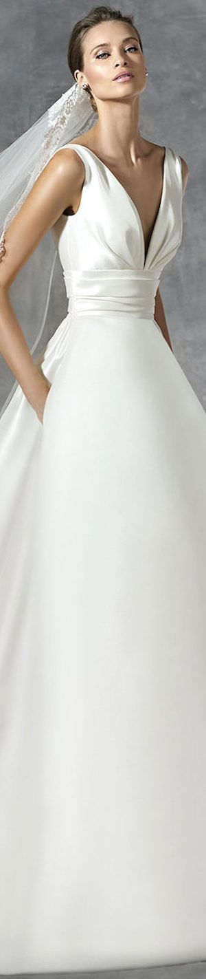 PRONOVIAS PLAZA WEDDING DRESS pinned by wedding accessories and gifts specialists http://destinationweddingboutique.com