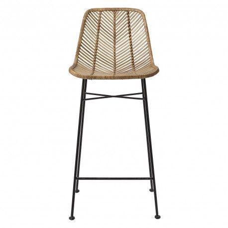 Tabouret de bar avec pied en métal gris Bloomingville - Décoration intérieure et meubles design scandinave by Frenchrosa