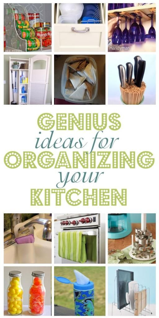 diy home sweet home: Genius Ideas For Organizng Your Kitchen