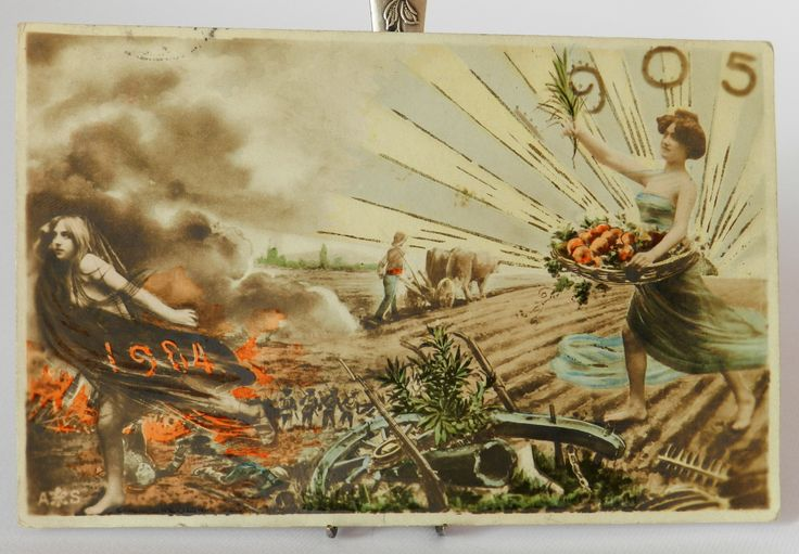 Vintage New year card 1904
