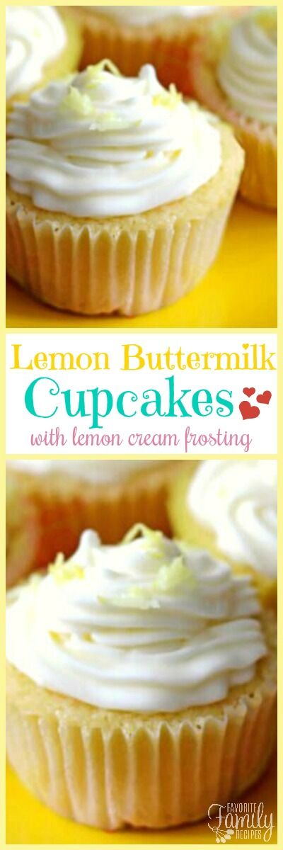 These Lemon Buttermilk Cupcakes with Lemon Cream Frosting taste like cupcakes you would buy at an expensive cupcake shop. Creamy lemon flavor in every bite!