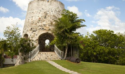The historic Sugar Mill at The Buccaneer