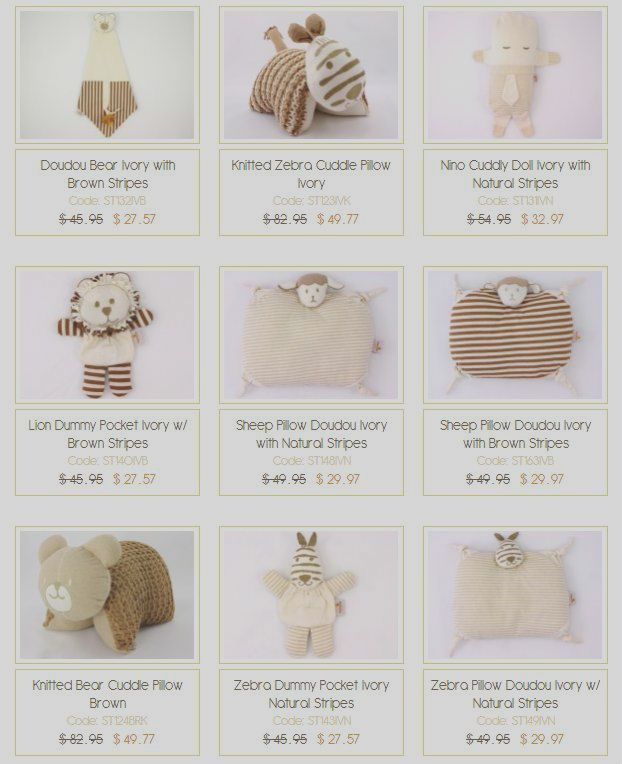 Wide range of organic cotton made soft toys at #VanillaBaby. Easy online shopping facility and affordable price. Visit http://www.VanillaBaby.com.au.
