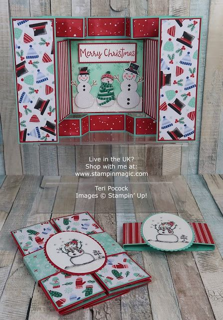 Double Trifold Card using Snowman Season – Video Tutorial