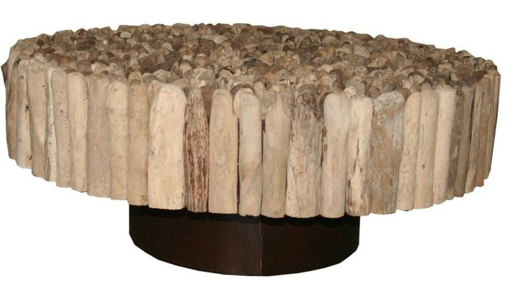 Home :: Furniture :: Living Room Furniture :: Coffee Tables :: Driftwood Manhattan Round Coffee Table