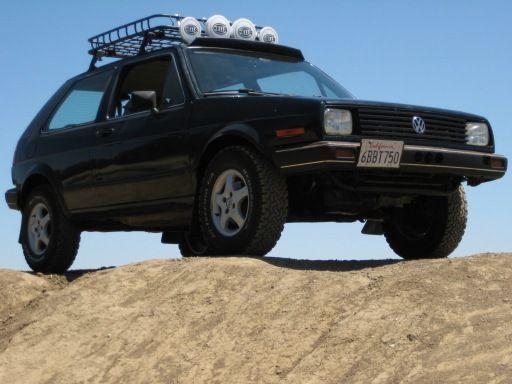 Custom lifted 1986 VW Golf with MK3 TDI swap, and BFG all ...