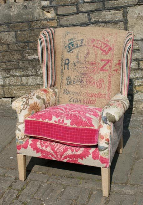 I love chairs and I love patchwork so here's a little montage featuring just that...