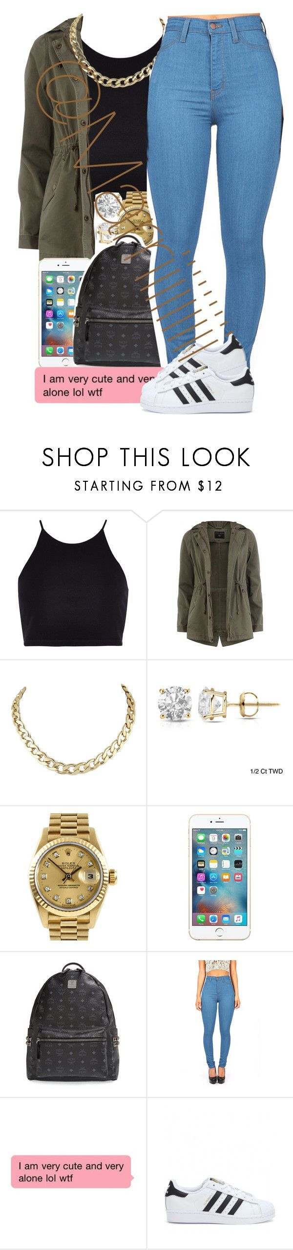 """Follow me on ig @Marriiiiiiiii"" by marriiiiiiiii ❤ liked on Polyvore featuring River Island, Dorothy Perkins, Auriya, Rolex, MCM and adidas"