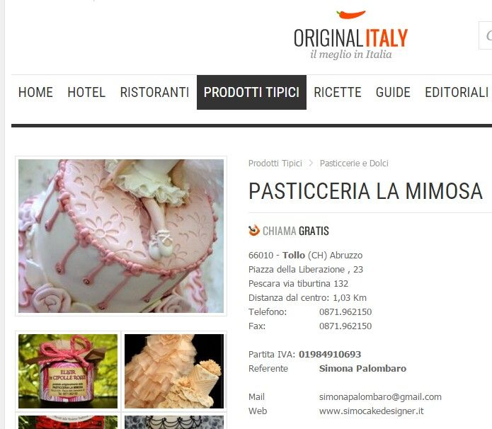 Originalitaly parla della pasticceria La Mimosa di Tollo. tratto da http://www.originalitaly.it/it/store/s-pasticceria-la-mimosa