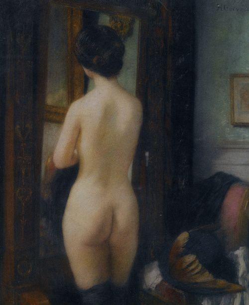 Nu a la Psyche  Henri Gervex 1910