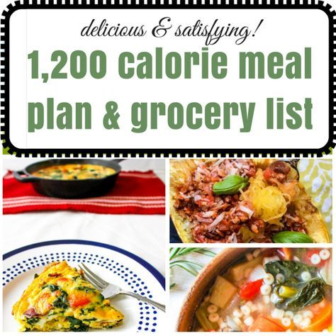 Delicious and Satisfying 1,200 Calorie Meal Plan, Recipes, and Grocery List - Ally's Cooking